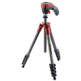 Manfrotto COMPACTアクション三脚5段 フォト・ムービーキット レッド MKCOMPACTACN-RD MKCOMPACTACNRD