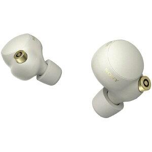 SONY(ソニー)フルワイヤレスイヤホンプラチナシルバーWF1000XM4SM[リモコン・マイク対応/ワイヤレス(左右分離)/Bluetooth/ハイレゾ対応/ノイズキャンセリング対応]WF1000XM4SM