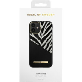 IDEALOFSWEDEN iPhone12 mini ATELIER CASE 20AW ZEBRA ECLIPSE IDACAW20-2054-247 ブラック IDACAW202054247