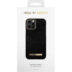 IDEALOFSWEDEN iPhone12/12 Pro ATELIER CASE 20SS NIGHTFALL CROCO IDACSS20-I2061-212 ブラック IDACSS20I2061212