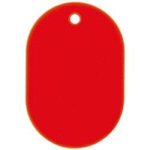 オープン工業 OP 番号札 大 無地 25枚 赤 BF-40-RD BF40RD