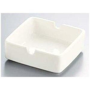 エムズジャパン 陶器 ホワイト 角形灰皿 Y-405 <PHIJ801> PHIJ801