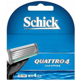 シック Schick(シック) クアトロ4 チタニウム 替刃4個入 〔ひげそり〕