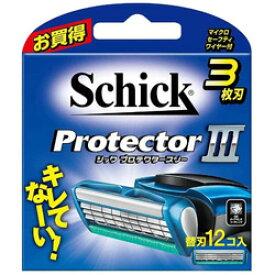 シック Schick(シック) プロテクタースリー 替刃12個入 〔ひげそり〕 [振込不可]