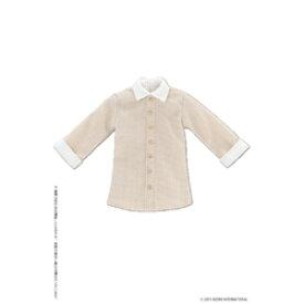 アゾンインターナショナル ロングシャツ ベージュ×ホワイト