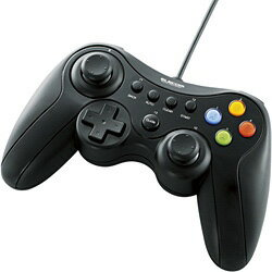 エレコムJC-U3613MBKUSBゲームパッド(13ボタンタイプ/デジタル/アナログ対応/ブラック)(JCU3613MBK)
