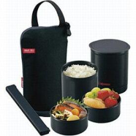ZOJIRUSHI(象印マホービン) 保温弁当箱 「お・べ・ん・と」(茶碗1.2杯分) SZ-JB02-BA ブラック SZJB02