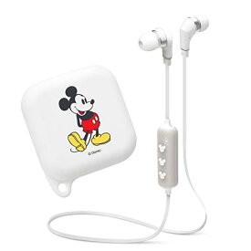 【ディズニー】Bluetooth 4.1搭載 ワイヤレス ステレオ イヤホン[ミッキーマウス ホワイト] pga-pg-bte1sd02mky