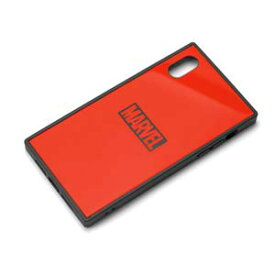 MARVEL マーベル iPhone XR ガラスハイブリッドケース ロゴ レッド
