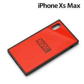 MARVEL マーベル iPhone XS Max ガラスハイブリッドケース ロゴ レッド pg-dcs632rd