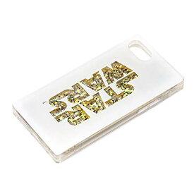 スター・ウォーズ iPhone SE 第2世代 2020 8 7 6s 6 グリッターケース ロゴ ホワイト PG-DLQ17M06SW