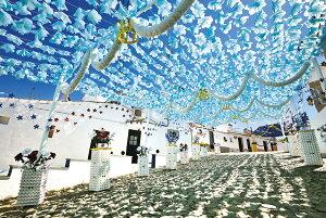 空に舞う水色の花(ポルトガル) ジグソーパズル 風景 1000ピース 50×75cm 10-1341