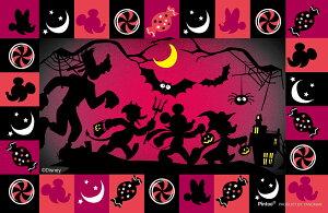 ディズニー ハロウィンの夜に ミッキー&フレンズ クリアスタンドパズル ジグソーパズル アニメ キャラクター 132ピース 15.8×21.4cm 2500-19