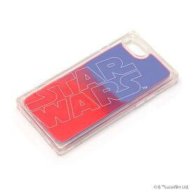 スター・ウォーズ STARWARS iPhone SE 2020 第2世代 8 7 6s 6 ネオンサンドケース ロゴ/ブルー&レッド PG-DLQ20M14SW