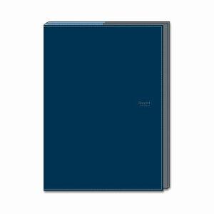 ダイゴー 手帳カバー A5 折りたたむタイプ ネイビー アポイントステーショナリー N1812