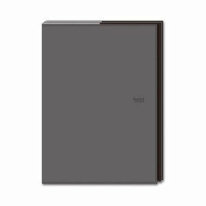 ダイゴー 手帳カバー A5 折りたたむタイプ グレー アポイントステーショナリー N1813