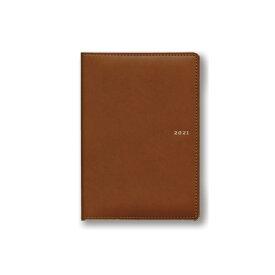 ダイゴー 2021年1月始まり 手帳 スケジュール帳 アポイント Appoint 1週間バーチカル ブラウン E8405
