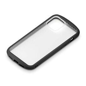 iPhone 12 /12 Pro用 6.1インチ ガラスタフケース ラウンドタイプ ブラック 2020 PG-20GGT01BK