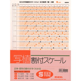 【あす楽】写植割付スケール Sタイプ 級数表 追跡可能メール便可