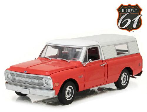 Highway 61 1:18 1970年モデル シボレー C-10 ピックアップトラック キャンパーシェル仕様1970 Chevrolet C-10 pick-up with Camper Shell 1/18 by Higheay 61
