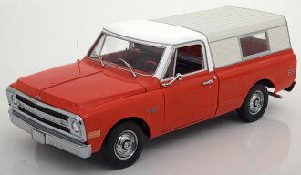 Highway 61 1:18 1970年型号雪佛兰C-10挑选卡车露营者外壳式样1970 Chevrolet C-10 pick-up with Camper Shell 1/18 by Higheay 61 NEW