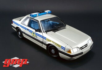 GMP 1/18 1988 1991 년 모델 포드 머스탱 경찰 1988 1991 Ford Mustang Patrol SSP 1/18 by GMP