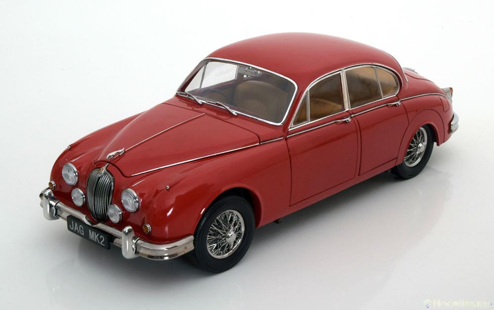 パラゴンモデル 1:18 1962年モデル ジャガー MKII 3.8L カルメンレッドJaguar MK II Year 1967 red 1:18 Paragon Models