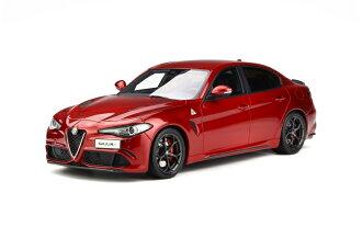 OttOmobile 1:18 2016年型号阿尔法罗密欧久利Aqua泥土对开纸Rosso Competizione红2016 Alfa Romeo Giulia Quadrifoglio 1/18 Rosso Competizione by OttOmobile NEW