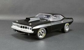 ACME 1/18 ミニカー ダイキャストモデル 1971年モデル プリムス Drag Cuda Gloss Black ブラック1971 PLYMOUTH DRAG CUDA - GLOSS BLACK 1:18 ACME