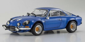 Kyosho 京商 1/18 ミニカー ダイキャストモデル 1973年モデル ルノー アルピーヌ A110 ブルーカラー1973 Renault Alpine A110 Rally *Street Edition*, blue 1/18 by Kyosho