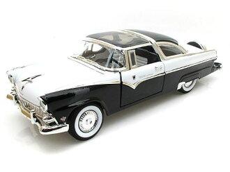 1955 년 모델 포드 크라운 빅토리아 블랙 1955 Ford Crown Victoria