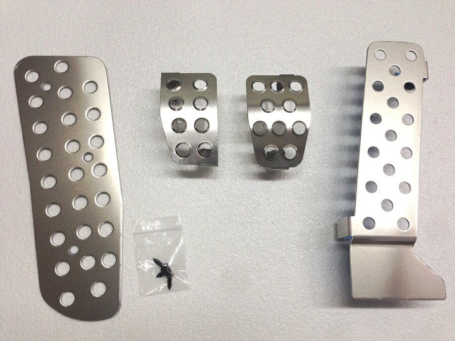 マツダロードスターND-MT用 純正ペダル対応 アルミペダルカバー 4点セット アルミペダル