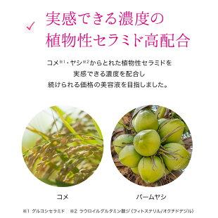 実感できる濃度の植物性セラミド高配合