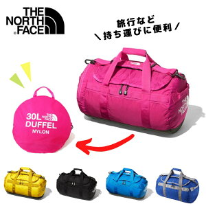 ノースフェイス ナイロン ダッフルバッグ 30L ドラムバッグ キッズ 子ども用 THE NORTH FACE NMJ81801 旅行 キャンプ