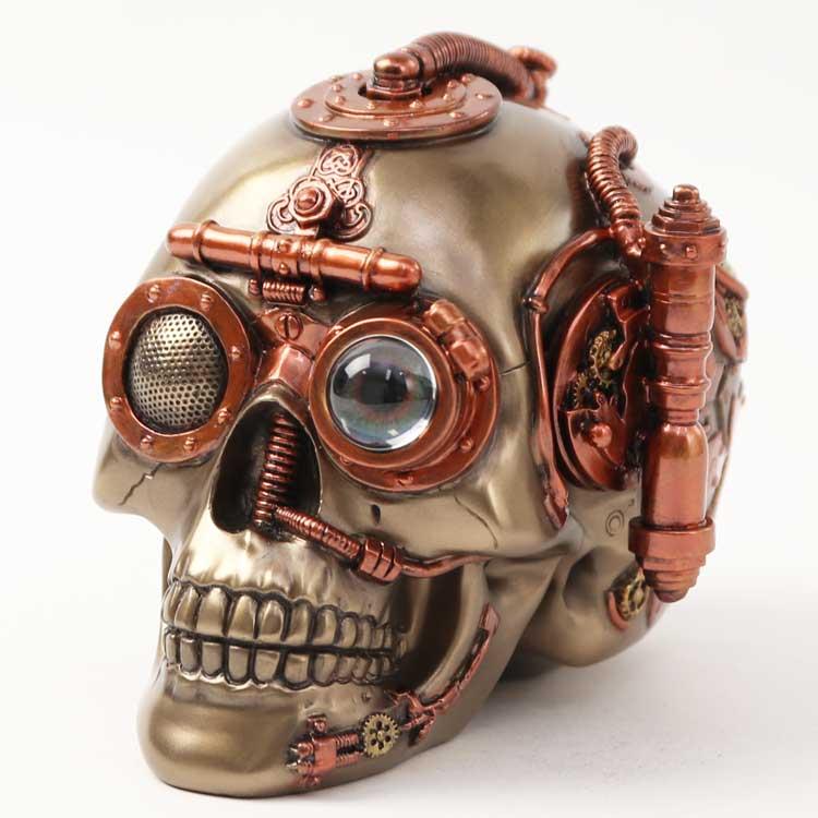 スカル/SKULL/頭蓋骨/ドクロ/ブロンズ置物/小物入れ