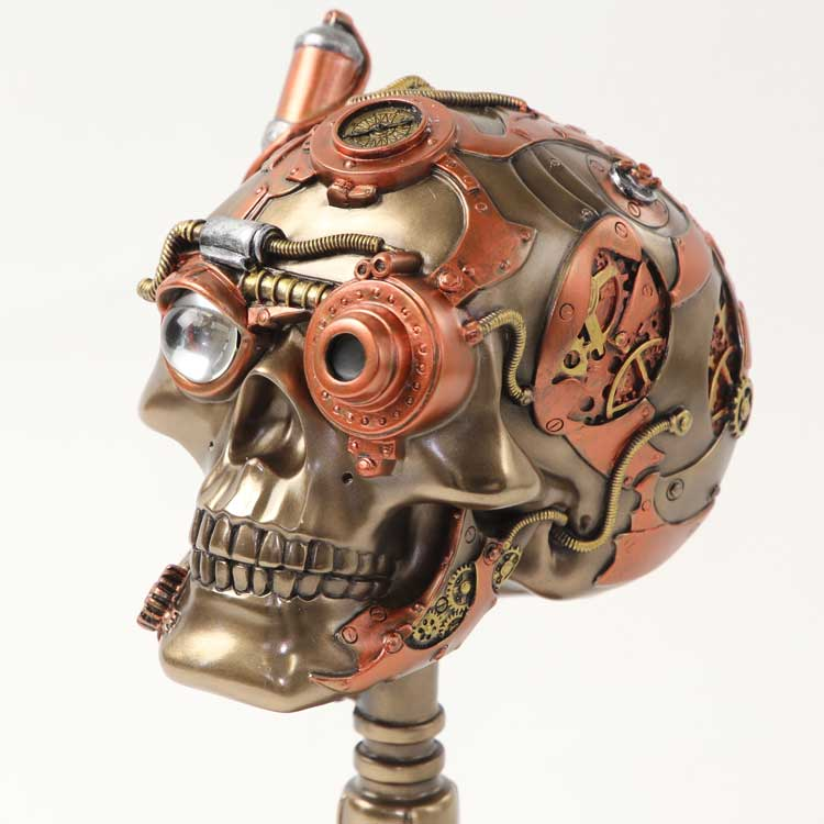 スカル/SKULL/頭蓋骨/ドクロ/ブロンズ置物/スタンドタイプ