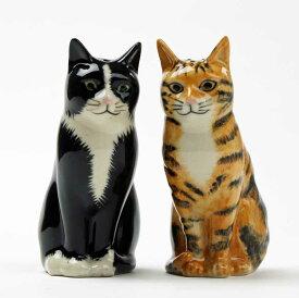 Reuben&Sparky S+P 猫の塩コショウ入れ セット Quail Ceramics クエイル 猫雑貨 猫グッズ 塩胡椒入れ 雑貨 インテリア 猫 ネコ ねこ おしゃれ おもしろ アニマル 海外 輸入 北欧 陶器 プレゼント ギフト 誕生日 記念日
