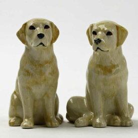 Labrador goldのフィギアセット ラブラドール イギリス Quail Ceramics 動物 置物 オブジェ インテリア 磁器製 犬好き