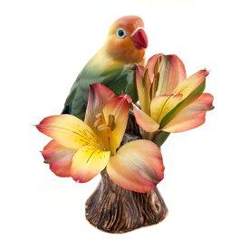 LoveBirdBudVase ボタンインコの小花入れ Quail Ceramics クエイル 鳥 雑貨 グッズ 花瓶 インテリア 一輪挿し ボタンインコ かわいい おしゃれ おもしろ アニマル 海外 輸入 北欧 陶器 置物 プレゼント ギフト 誕生日 記念日