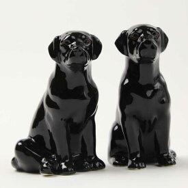 Labrador blackのフィギアセット ラブラドール イギリス Quail Ceramics 動物 置物 オブジェ インテリア 磁器製 犬好き 黒ラブ