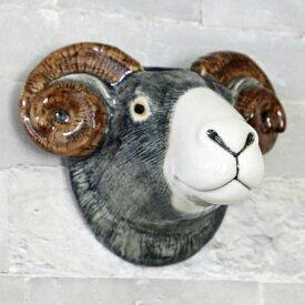 Swaledale sheep WallVase 北イギリスの羊 壁掛け Quail Ceramics 動物 置物 オブジェ インテリア 磁器製 ひつじ 花瓶 羊