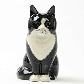売り切れ次第販売終了!! 猫のフィギアOliver4イギリス Quail Ceramics(クウェイル・セラミックス)社製 動物 置物 オブジェ インテリア 北欧 モダン 磁器製 ヨーロッパ市場向け製品 ネコ好きさんに にゃんこ