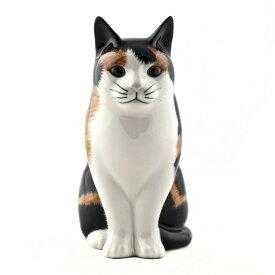 """売切れ次第販売終了!!猫のフィギアEleanor4"""""""" イギリス Quail Ceramics(クウェイル・セラミックス)社製 動物 置物 オブジェ インテリア 北欧 モダン 磁器製 ヨーロッパ市場向け製品 ネコ好きさんに 三毛猫 にゃんこ"""