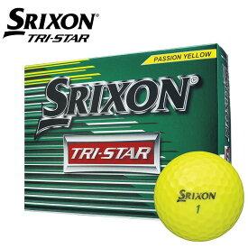 【ダンロップ】ゴルフボール SRIXON(スリクソン)TRI−STAR2 1ダース(12個入り)プレミアムパッションイエロー【ノーネーム】