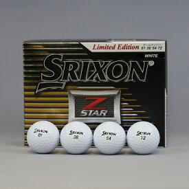 【ダンロップ】ゴルフボール SRIXON(スリクソン)Z−STAR ダブルナンバー(No.01、36、54、72)1ダース(12個入り)ホワイト【ツアープロ使用モデル】【お買い得商品】【送料無料】