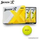 【飛距離追及型ゴルフボール】  SRIXON X2(エックスツー) イエロー (オウンネーム無料)