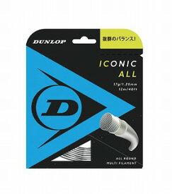テニス【ダンロップ】DUNLOPストリング ICONIC ALL アイコニック・オール12m 125/130(DST31001)