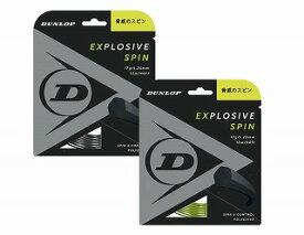 テニス【ダンロップ】DUNLOPストリング EXPLOSIVE SPIN エクスプロッシブ・スピン12m 125/130(DST11001)
