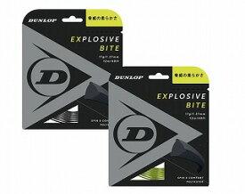 テニス【ダンロップ】DUNLOPストリング EXPLOSIVE BITE エクスプロッシブ・バイト12m 127/132(DST11011)