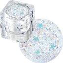 スプラッシュグリッター#16971/Minty Stars [ラメ ホログラム/ネイル/パーツ/レジン/...